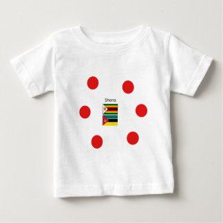 Camiseta Para Bebê Língua de Shona e bandeiras de Zimbabwe e de
