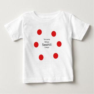 Camiseta Para Bebê Língua do suaíli (Kenya, Tanzânia, e o Congo)