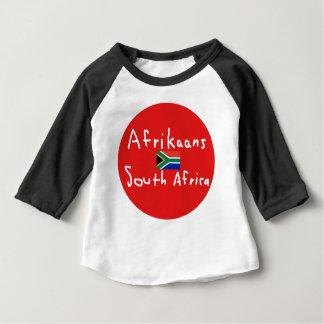 Camiseta Para Bebê Língua e bandeira de África do Sul do holandês