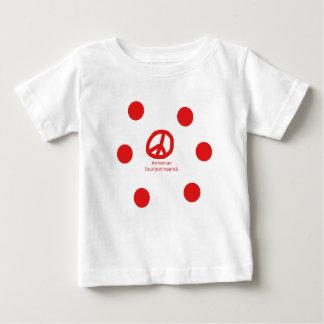 Camiseta Para Bebê Língua e design arménios do símbolo de paz