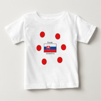 Camiseta Para Bebê Língua e design eslovacos da bandeira de Slovakia