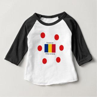 Camiseta Para Bebê Língua e design romenos da bandeira de Romania