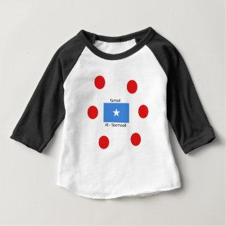 Camiseta Para Bebê Língua e design somalianos da bandeira de Somália