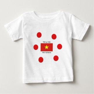 Camiseta Para Bebê Língua e design vietnamianos da bandeira de