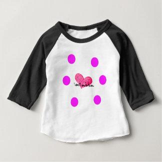 Camiseta Para Bebê Língua maltesa do design do amor