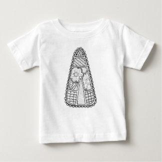 Camiseta Para Bebê Linha design do milho de doces do mascarada da