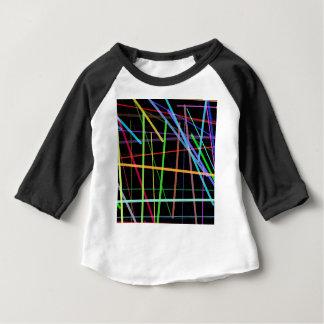 Camiseta Para Bebê Linhas aleatórias néon retro dos anos 90