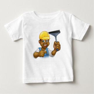 Camiseta Para Bebê Líquido de limpeza de janela com rodo de borracha