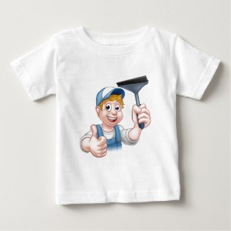 Camiseta Para Bebê Líquido de limpeza de janela que guardara o rodo