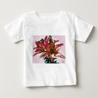 Camiseta Para Bebê Lírio do por do sol