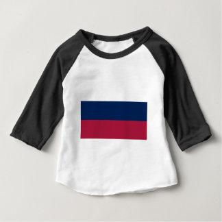 Camiseta Para Bebê Listras brancas e azuis vermelhas