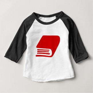 Camiseta Para Bebê Livro vermelho