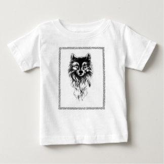 Camiseta Para Bebê Lobo