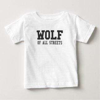 Camiseta Para Bebê Lobo agradável de todo o impressão das ruas