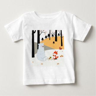Camiseta Para Bebê Lobo bonito da raposa do verão do primavera do