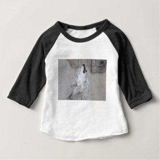 Camiseta Para Bebê Lobo cinzento do urro