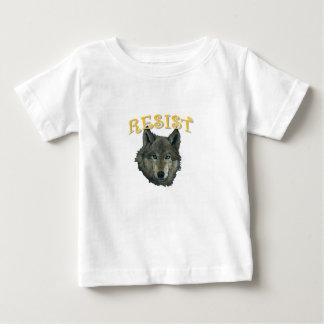 Camiseta Para Bebê Lobo da resistência