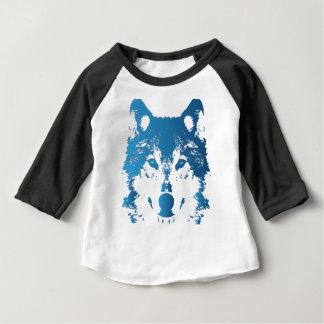 Camiseta Para Bebê Lobo do azul de gelo da ilustração