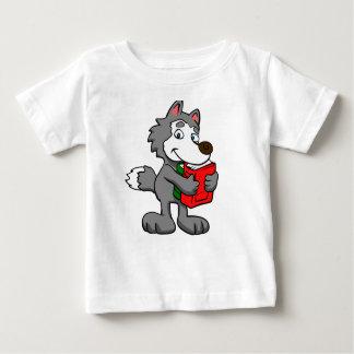 Camiseta Para Bebê Lobo dos desenhos animados que guardara livros