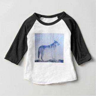 Camiseta Para Bebê Lobo expor