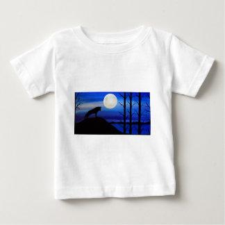 Camiseta Para Bebê lobo na montanha