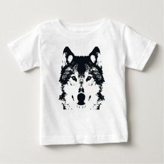 Camiseta Para Bebê Lobo preto da ilustração