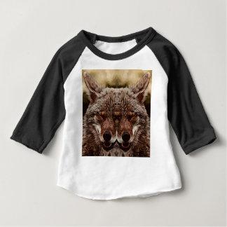 Camiseta Para Bebê Lobo psicadélico