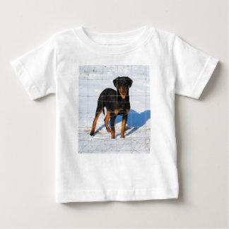 Camiseta Para Bebê Lobo Rottweiler