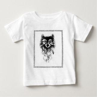 Camiseta Para Bebê Lobo selvagem