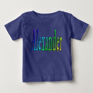 Camiseta Para Bebê Logotipo conhecido colorido de Alexander,