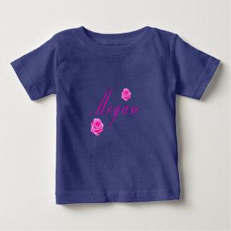 Camiseta Para Bebê Logotipo conhecido das meninas de Megan,