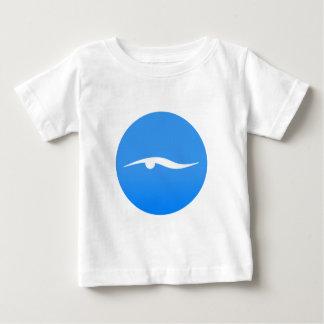 Camiseta Para Bebê Logotipo da natação no t-shirt