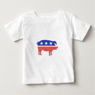 Camiseta Para Bebê Logotipo do bacon
