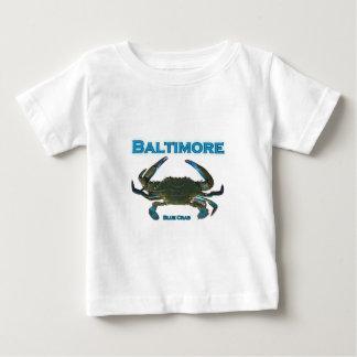 Camiseta Para Bebê Logotipo do caranguejo azul de Baltimore