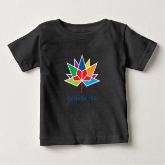 Camiseta Para Bebê Logotipo do oficial de Canadá 150 - multicolorido