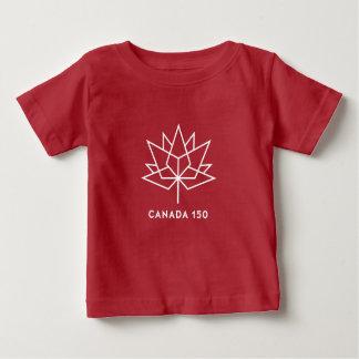 Camiseta Para Bebê Logotipo do oficial de Canadá 150 - vermelho e
