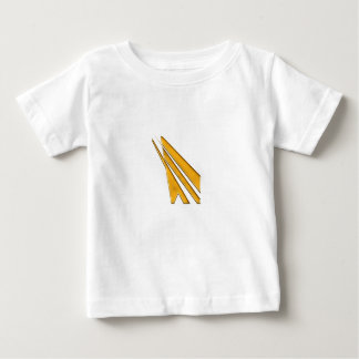 Camiseta Para Bebê logotipo do ouro