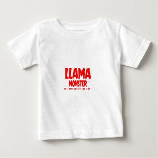Camiseta Para Bebê Logotipo do vermelho do monstro do lama