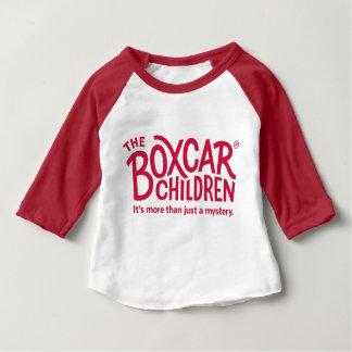 Camiseta Para Bebê Logotipo oficial das crianças do vagão coberto com