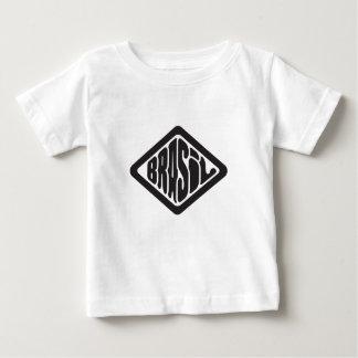 Camiseta Para Bebê logotipo retro de Brasil da forma do diamante