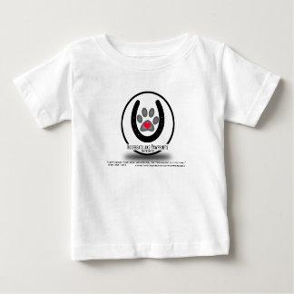 Camiseta Para Bebê Logotipo simples de Hoofbeats e de Pawprints
