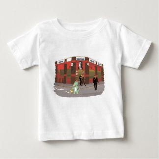 Camiseta Para Bebê Loja do vintage, ilustração bonito dos animais