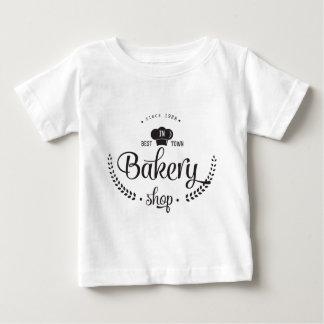 Camiseta Para Bebê Loja retro da padaria