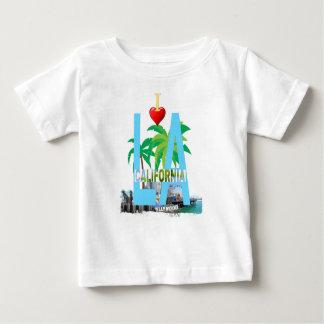 Camiseta Para Bebê Los Angeles l uma cidade EUA América de Califórnia