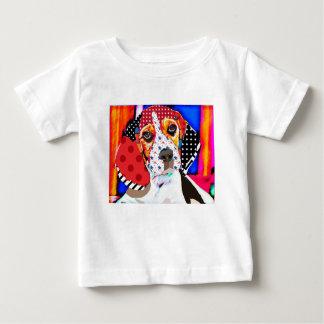 Camiseta Para Bebê Louca por Beagle