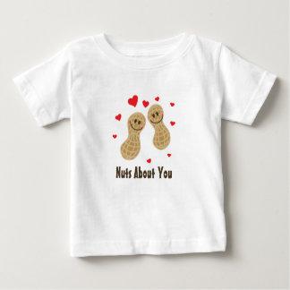 Camiseta Para Bebê Loucos sobre você humor bonito da chalaça da
