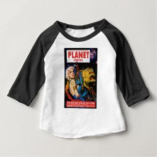 Camiseta Para Bebê Louro da platina e seu amigo do monstro