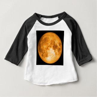 Camiseta Para Bebê Lua cheia alaranjada