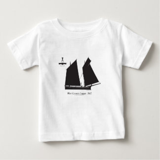 Camiseta Para Bebê lugger do país 1887 ocidental - fernandes tony