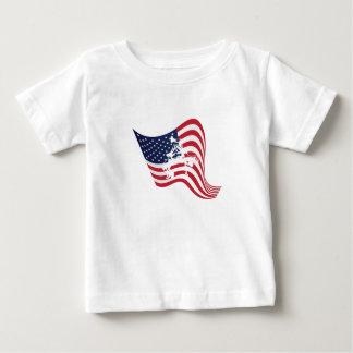 Camiseta Para Bebê Luta do Wrestle do amor da bandeira americana